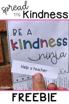 Spread a little more kindness in your classroom, school or community with this freebie. Teach your students that kindness can be simple and fun. This is a kindness challenge for kids that everyone can take part in. Each poster has a kindness quote and a list of tear away random acts of kindness. Click to get your free printable and start watching kindness spread! #rainbowskycreations Teaching Kindness, Kindness Activities, Social Emotional Learning, Social Skills, Social Work, Classroom Organization, Classroom Management, Classroom Behavior, School Classroom