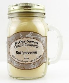 """Mason jar OUR OWN CANDLE COMPANY """"BUTTERCREAM"""""""