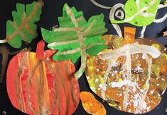 Autumn Collage Art Project for FIRST GRADE.