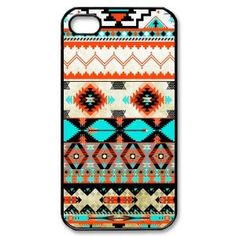 Amazon.com: Nice Hipster Aztec Geometric Pattern Hard Plastic Case for the AT&T, Verizon, and Sprint iPhone 4/4S: Cell Phones & Accessories