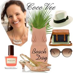 """""""CocoVee Beach Day"""" by cocovee on Polyvore"""