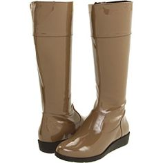 patent camel rainboot $170