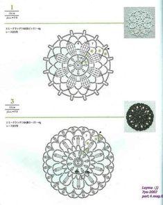 Lacework four seasons 100 Crochet Motif 10-20 cm 010