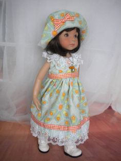 "5 Pc. Spring Outfit for Effner 13"" LIttle Darling, Kish 14"" or Betsy McCall Doll"