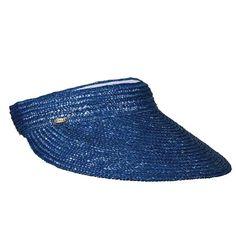 23157bd9393 Braided laichow staw sun visor. Terrycloth inner band