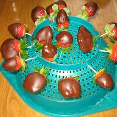 Chocolate Covered Strawberries, how to dry