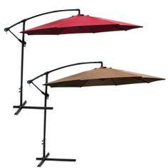 Patio Umbrella Offset 10' Hanging Umbrella Outdoor Market Umbrella New. Deal Price: $69.95. List Price: $179.95. Visit http://dealtodeals.com/patio-umbrella-offset-hanging-outdoor-market/d18783/patio-lawn-garden/c87/