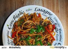 Pravá Hoisin čína s nudlemi recept - TopRecepty.cz Seitan, Japchae, Spaghetti, Treats, Ethnic Recipes, Vietnam, Food, Gourmet, Asia