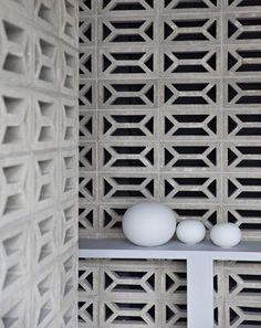 Part concrete brutalism, part metallic industrial, part Scandinavian modern and … – Breeze Blocks Interior Exterior, Interior Architecture, Architecture Courtyard, Breeze Block Wall, Concrete Blocks, Concrete Molds, Concrete Wall, Brick Wall, Scandinavian Modern