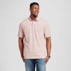 Men's Tall Club Polo Shirt Pink M Tall - Merona