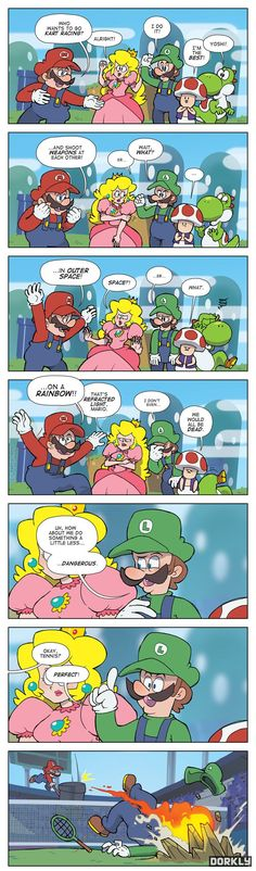 """Mario X-Treme Sports"" #dorkly #geek #supermariobros"