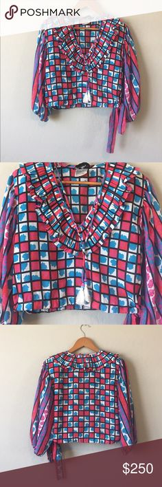 Spotted while shopping on Poshmark: Diane Freis Vintage Boho Flower & Stripes Top! #poshmark #fashion #shopping #style #diane freis #Tops
