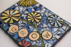 Grow Stained Glass Mixed Media Mosaic Wall Hanging by RedCrowArts  Etsy