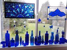 Broken blue glass ideas