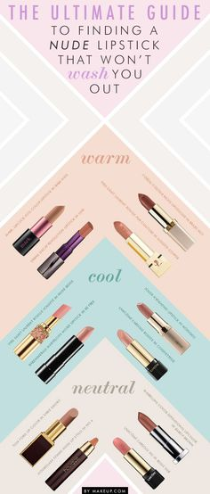 Nude colors for light and medium skin