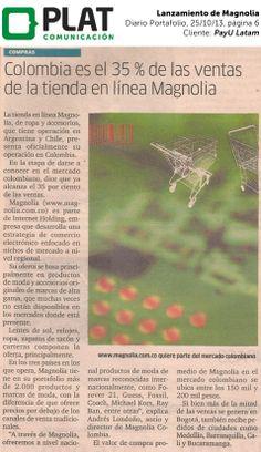 PayU Latam: Lanzamiento de Magnolia en el diario Portafolio de Colombia (25/10/13)