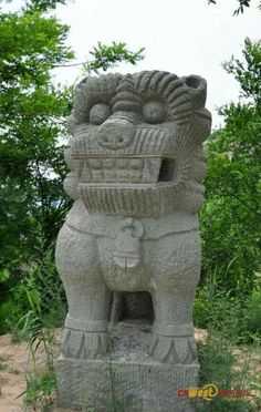 Cool stone lion from Shaanxi,china