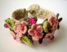 Sandy Meeks - Crochet Cherry Blossom Sakura Bracelet