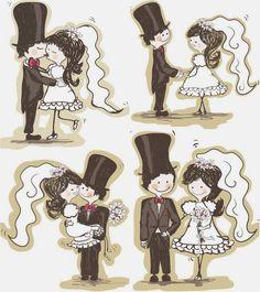 Bodas Cucas: Más imprimibles de boda cucos