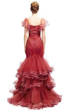 Tulle Gown by Zac Posen for Preorder on Moda Operandi