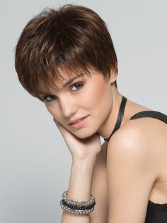 Scape by Ellen Wille - Synthetic Lace Front Monofilament Crown Wig - The HeadShop Wigs Haircut For Older Women, Short Hair Cuts For Women, Short Hairstyles For Women, Short Hair Styles, Short Pixie Haircuts, Pixie Hairstyles, Cool Hairstyles, Natural Hairstyles, Fringe Hairstyles