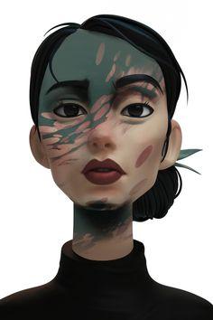 Camo Girl, Karen Haloche on ArtStation at https://www.artstation.com/artwork/wXLWL