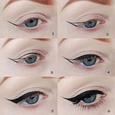 When going for a dramatic winged look, draw the outline of the shape, and then fill it in. You'll get a much more precise line.