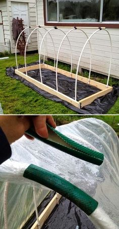 Creative DIY PVC pipe projects on a budget 22 - Diy Garden Projects Simple Greenhouse, Greenhouse Plans, Greenhouse Gardening, Porch Greenhouse, Portable Greenhouse, Container Gardening, Pallet Greenhouse, Underground Greenhouse, Homemade Greenhouse