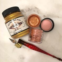 lumiere rose gold ink mixing