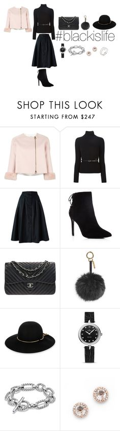 """#blackislife"" by blackislifetag ❤ liked on Polyvore featuring Agnona, Dsquared2, Sofie D'hoore, Charles David, Chanel, Fendi, Lanvin, OMEGA, David Yurman and EF Collection"