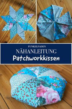 Sewing instructions round patchwork pillow - Freebook - Easy to sew - Free sewi. - Sewing instructions round patchwork pillow – Freebook – Easy to sew – Free sewing instructio - Beginner Knitting Projects, Diy Sewing Projects, Sewing Projects For Beginners, Knitting For Beginners, Sewing Hacks, Sewing Tutorials, Sewing Tips, Sewing Patterns Free, Free Sewing