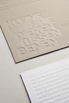 6/6 on Behance / Letterpress