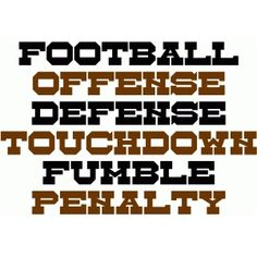 Silhouette Design Store: football sayings