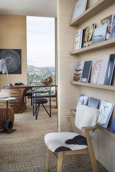 KELLY WEARSTLER | INTERIORS. Study bookshelf, Hollywood Proper Residences Penthouse.