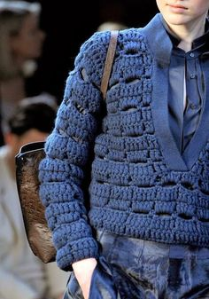 Crochet Patterns To Try : Crochet Patterns: Comment Crochet Cluster point Vetements ...