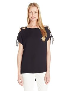 Susana Monaco Women's Kloe Cold Shoulder Top >>> This is an Amazon Affiliate link. Read more at the image link.