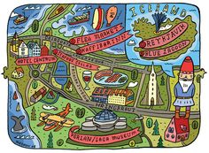 Illustrated Maps by Aaron Meshon.