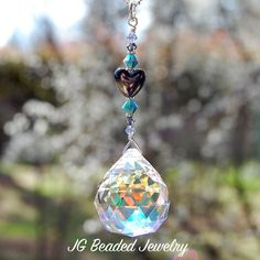 Heart Prism Crystal Suncatcher