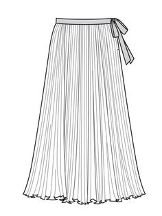 Sewing patterns : Pleated Maxi-Skirt (Plus Size) Fashion Artwork, Fashion Design Drawings, Fashion Sketches, Drawing Fashion, Modest Casual Outfits, Modest Dresses, Croquis Fashion, Dress Sketches, Fashion Figures