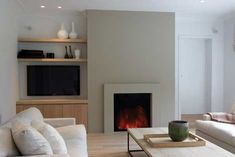 B-fire 80 fantastic electric inbouwhaard by TULP en Piet Boon #living room #fireplace