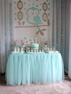 Tule Table Skirt Baby Shower Princess Party Bridal Related posts:Gold Baby Shower Nursery Rhyme Game PrintableA balloon garland, how ingenious! Any color/decor scheme.Baby Shower Games That Don't Suck Baby Shower Table Cloths, Deco Baby Shower, Fiesta Baby Shower, Shower Party, Baby Shower Parties, Baby Shower Themes, Baby Boy Shower, Baby Shower Gifts, Shower Ideas