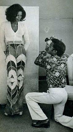 vintageblack2:  Sammy Davis Jr. photographing Azizi Johari.