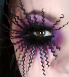 DIY Paper Lashes attached with falsies glue! Could e neat for Halloween :o)