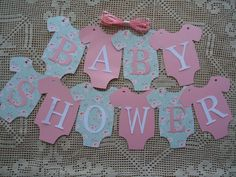 10 Bunting Flags Banners Garland Onesies BABY SHOWER Pink DIY Decor. Make your baby shower that little bit more special with this Original design. Wonderful additions to Baby Showers. Excellent for adding your very own touch of detail to your baby event. | eBay!