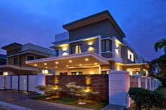Modern bungalow house design in malaysia interior design Modern Bungalow House Design, Modern Home Interior Design, Bungalow House Plans, Contemporary Interior, Modern Design, Feng Shui, Philippines, Japanese Style House, House Cladding