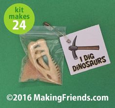 "Girl Scout Swaps Craft Kit ""Dig Dinosaurs"""