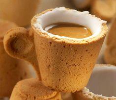 Coffee Cup made of cake #coffee #cake #cup
