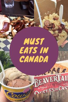 A list of things you must eat when in Canada