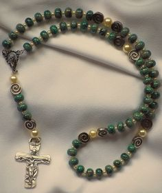 Green Holy Spirit Rosary by AllToolsPrayerful on Etsy.