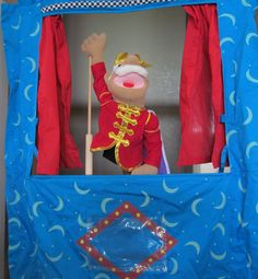 Puppet Stage and King Puppet and 6 Wizard of Oz Puppets - Set of 8 Pieces for full puppet show! by CellarDeals on Etsy